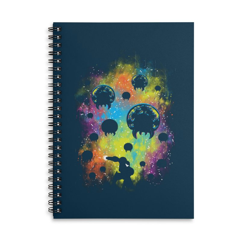 Galactic Warrior Accessories Lined Spiral Notebook by Daletheskater