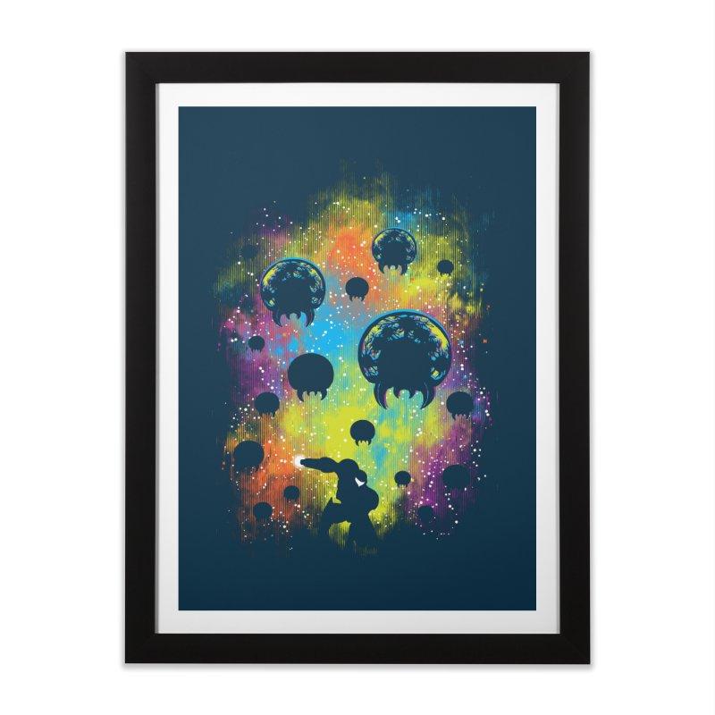 Galactic Warrior Home Framed Fine Art Print by Daletheskater