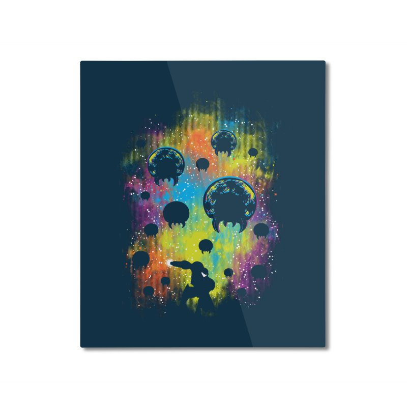 Galactic Warrior Home Mounted Aluminum Print by Daletheskater