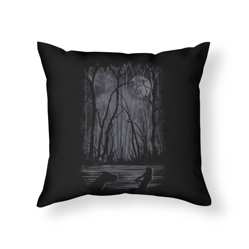 The Sadness Home Throw Pillow by Daletheskater