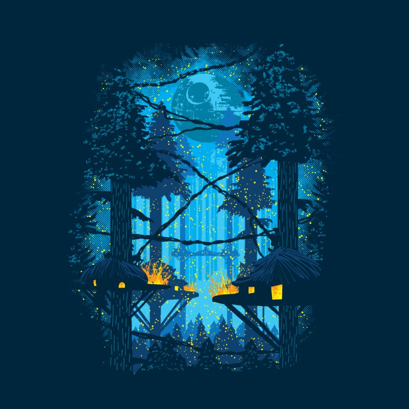 Ewok Village Men's T-Shirt by Daletheskater