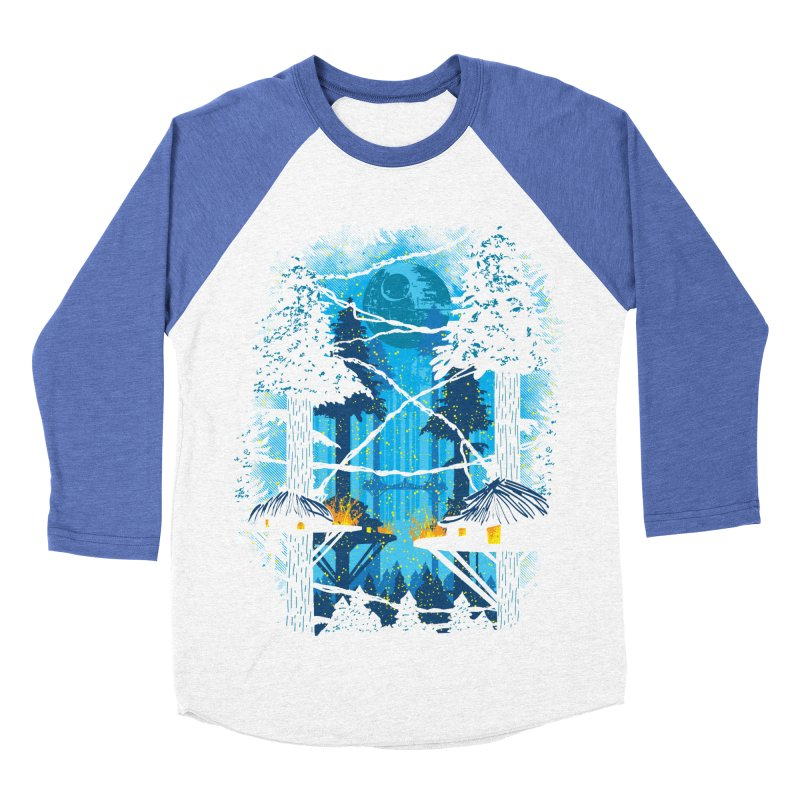 Ewok Village Men's Baseball Triblend Longsleeve T-Shirt by Daletheskater