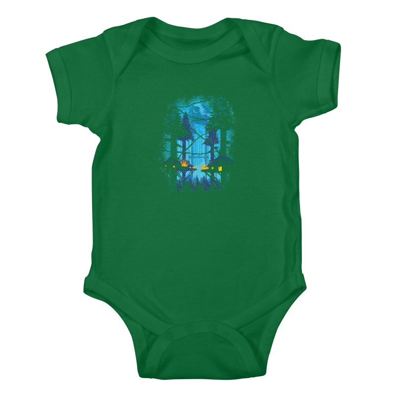 Ewok Village Kids Baby Bodysuit by Daletheskater