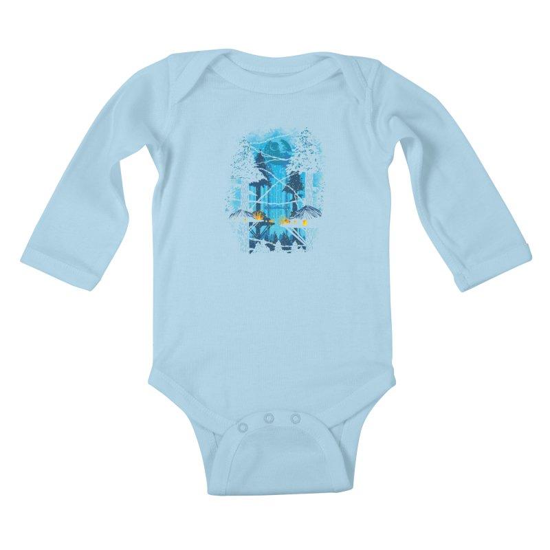 Ewok Village Kids Baby Longsleeve Bodysuit by Daletheskater