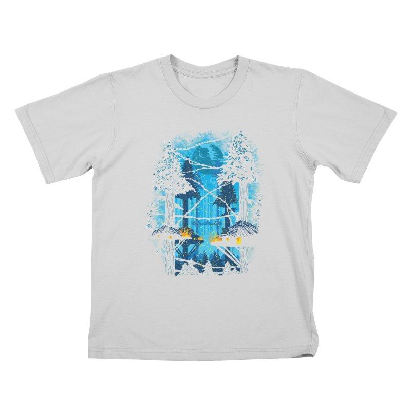 Ewok Village Kids T-Shirt by Daletheskater