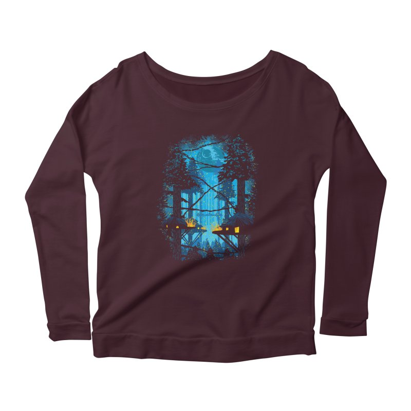 Ewok Village Women's Scoop Neck Longsleeve T-Shirt by Daletheskater