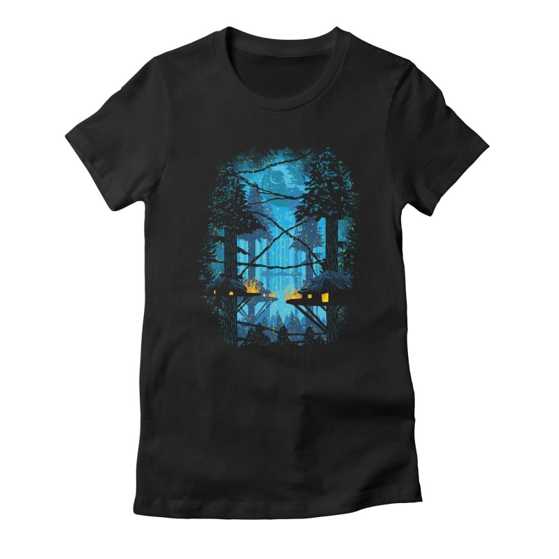 Ewok Village Women's Fitted T-Shirt by Daletheskater