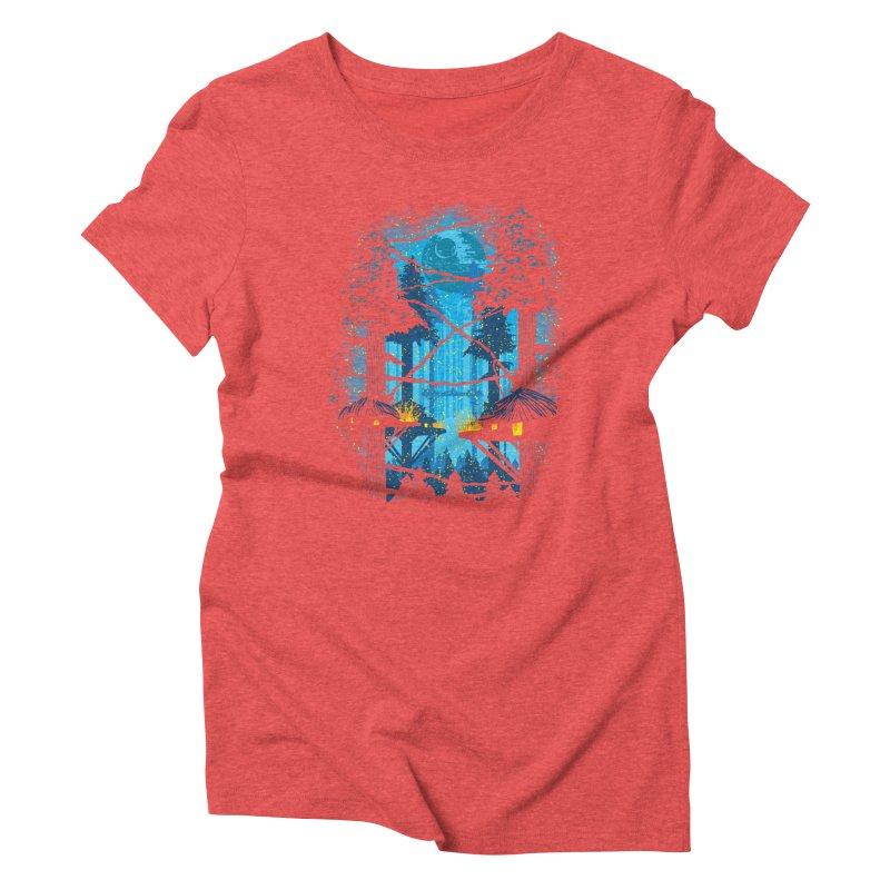 Ewok Village Women's Triblend T-Shirt by Daletheskater