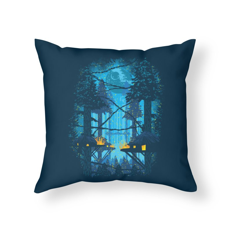 Ewok Village Home Throw Pillow by Daletheskater