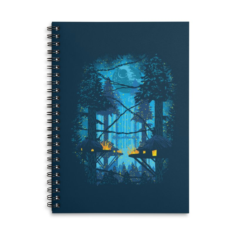 Ewok Village Accessories Lined Spiral Notebook by Daletheskater