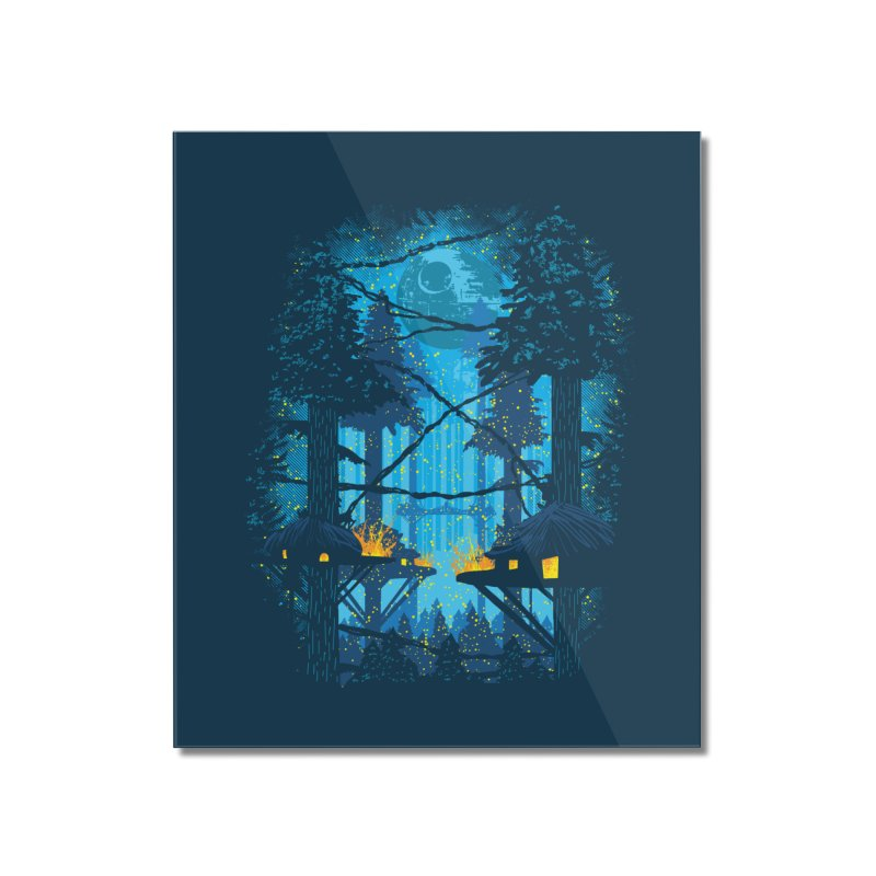 Ewok Village Home Mounted Acrylic Print by Daletheskater