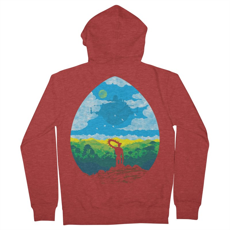 Mystical City Men's French Terry Zip-Up Hoody by Daletheskater
