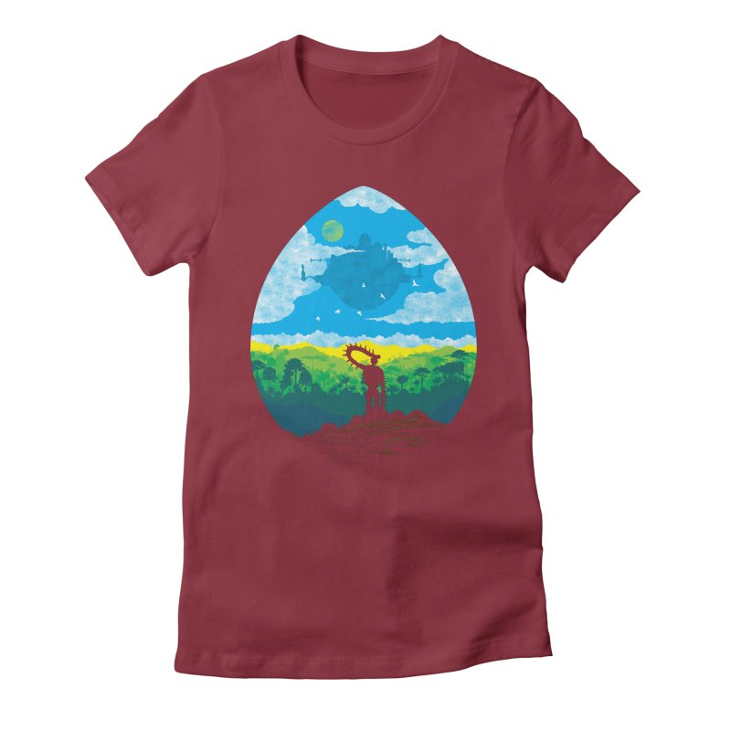 Mystical City Women's Fitted T-Shirt by Daletheskater