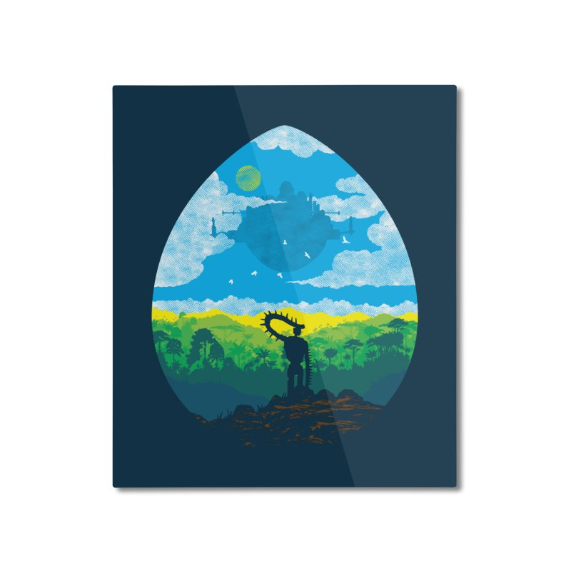 Mystical City Home Mounted Aluminum Print by Daletheskater