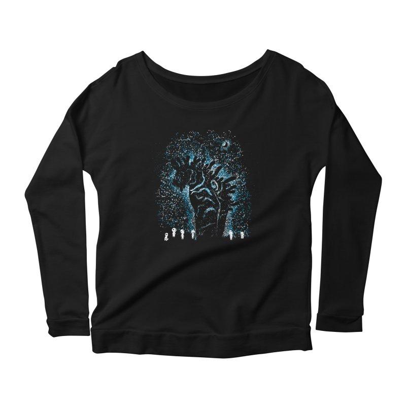 Spirits In The Night Women's Scoop Neck Longsleeve T-Shirt by Daletheskater