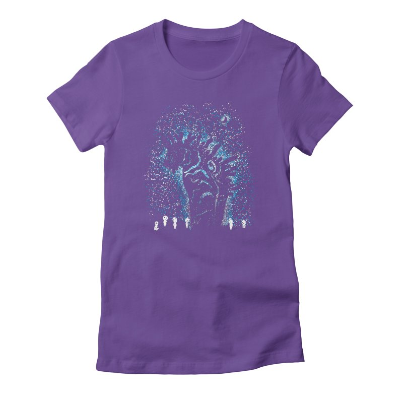 Spirits In The Night Women's Fitted T-Shirt by Daletheskater