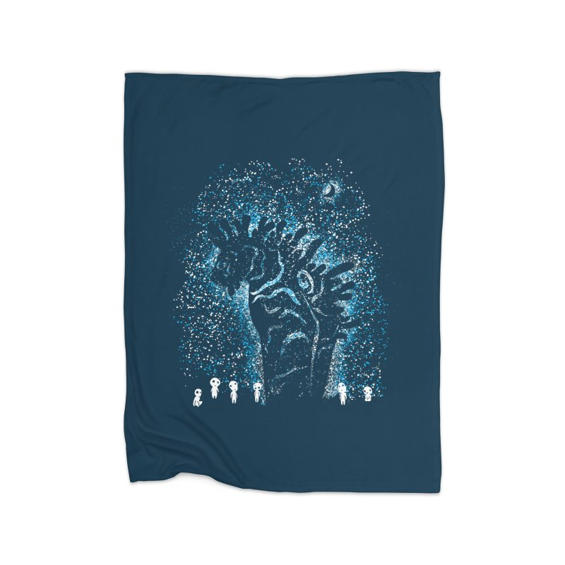 Spirits In The Night Home Fleece Blanket Blanket by Daletheskater