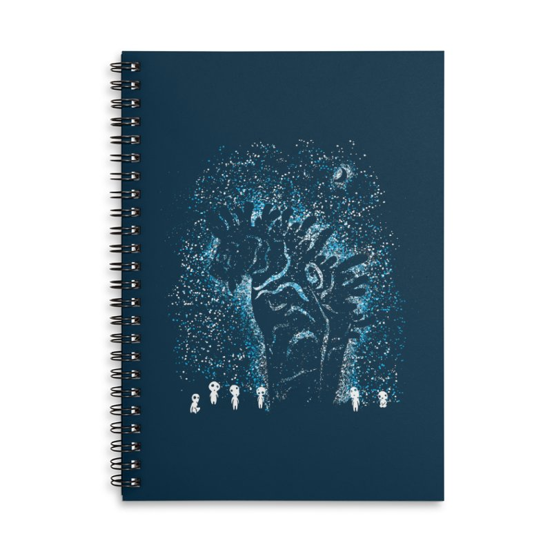 Spirits In The Night Accessories Lined Spiral Notebook by Daletheskater