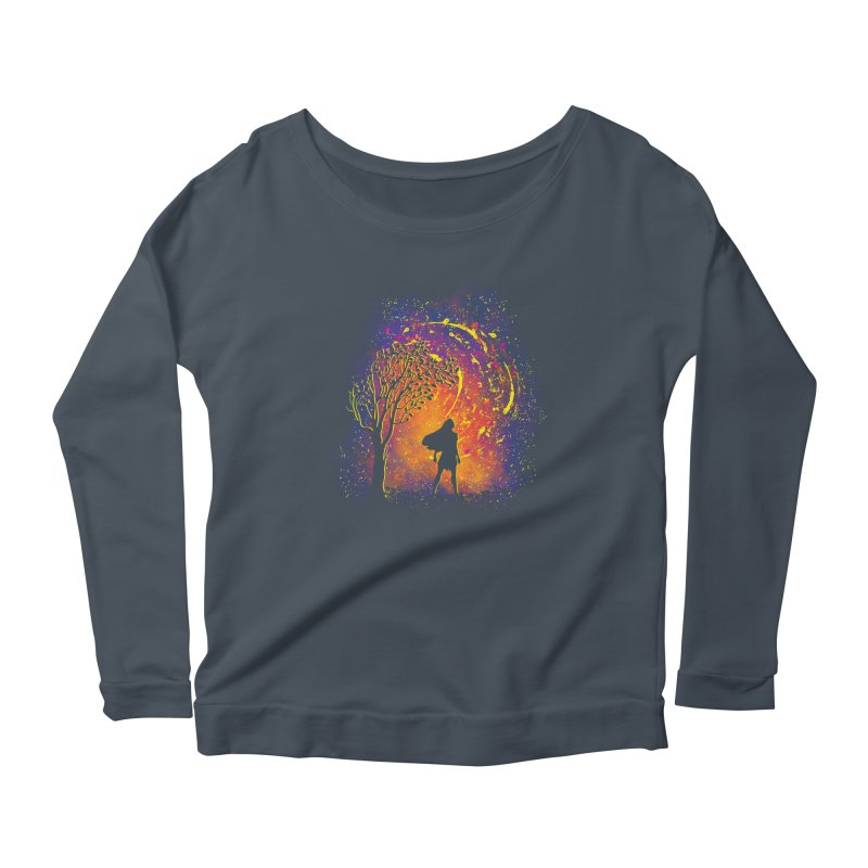 Colours Of The Wind Women's Scoop Neck Longsleeve T-Shirt by Daletheskater