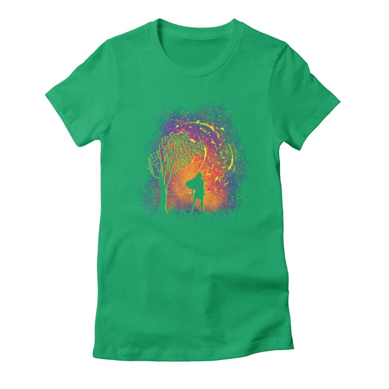 Colours Of The Wind Women's Fitted T-Shirt by Daletheskater