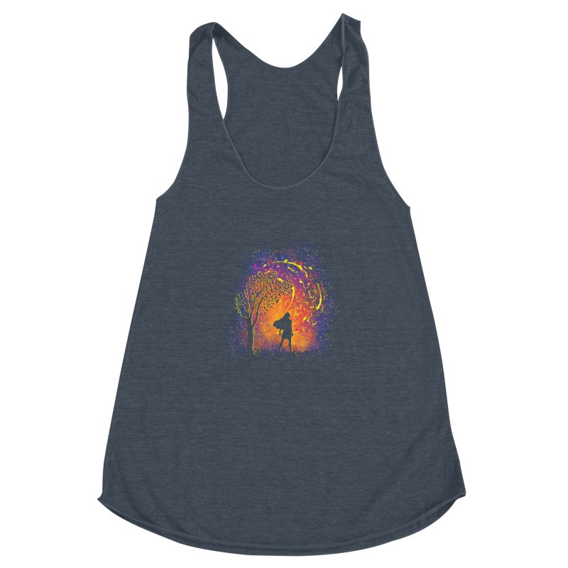 Colours Of The Wind Women's Racerback Triblend Tank by Daletheskater