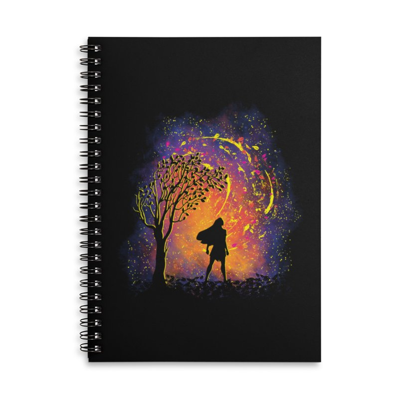 Colours Of The Wind Accessories Lined Spiral Notebook by Daletheskater