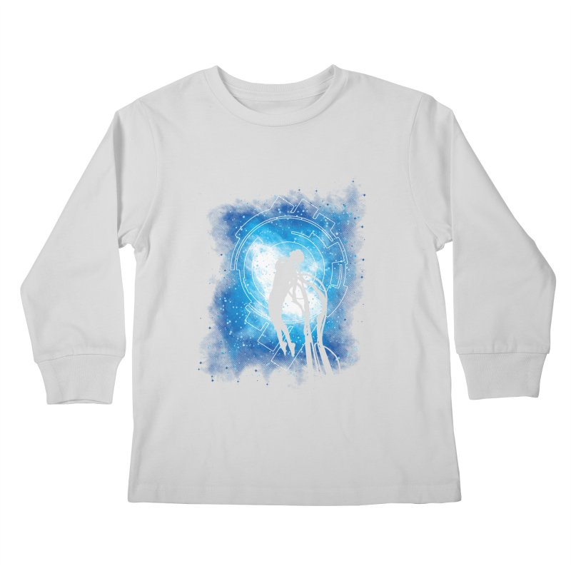 Cyborg Transformation Kids Longsleeve T-Shirt by Daletheskater