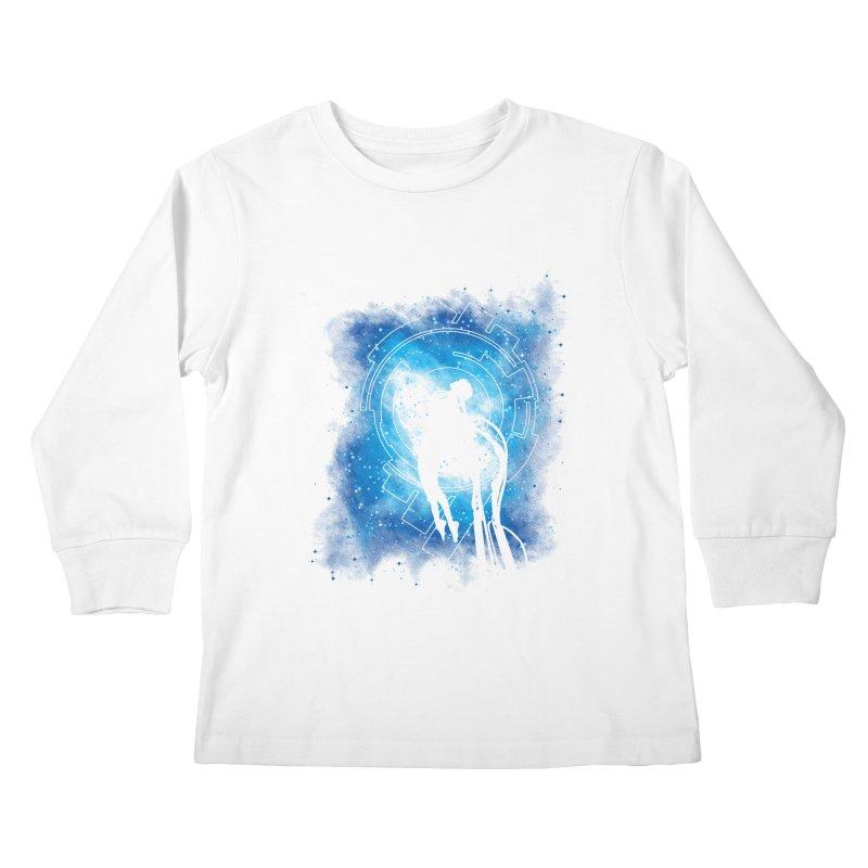 Cyborg Transformation Kids Longsleeve T-Shirt by Daletheskater