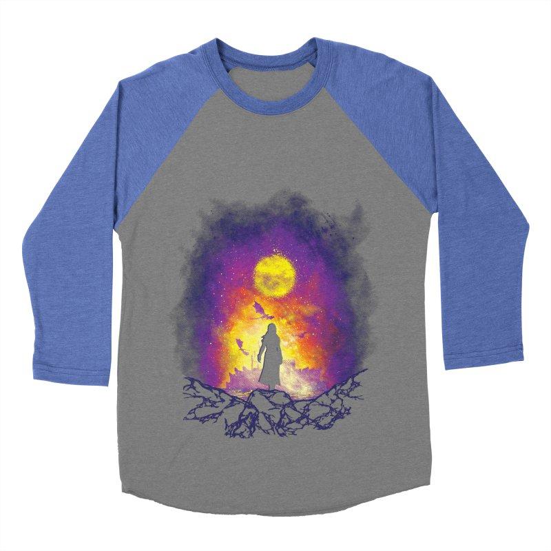 Born Of Fire Men's Baseball Triblend Longsleeve T-Shirt by Daletheskater