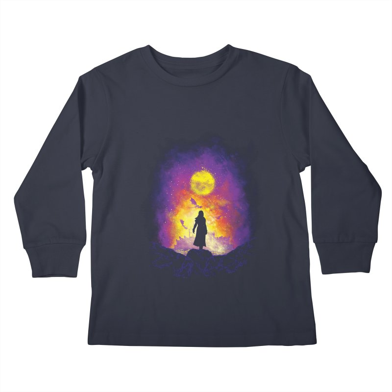 Born Of Fire Kids Longsleeve T-Shirt by Daletheskater
