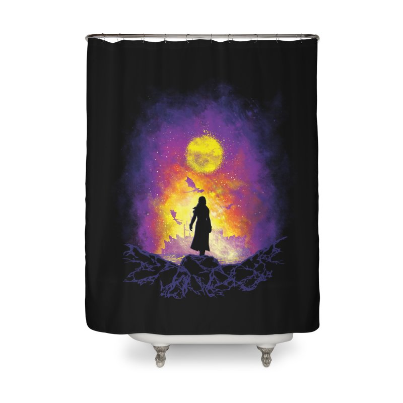 Born Of Fire Home Shower Curtain by Daletheskater