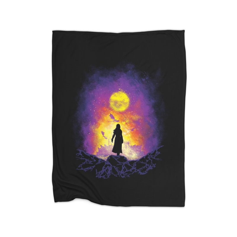 Born Of Fire Home Fleece Blanket Blanket by Daletheskater