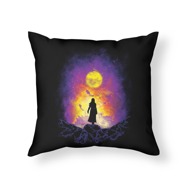 Born Of Fire Home Throw Pillow by Daletheskater