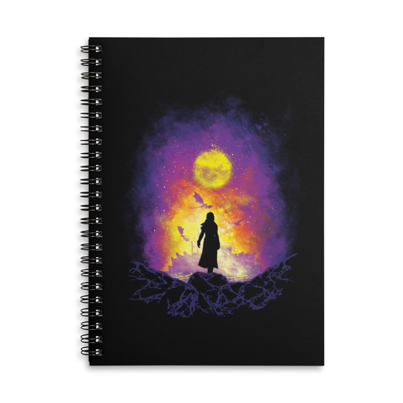 Born Of Fire Accessories Lined Spiral Notebook by Daletheskater