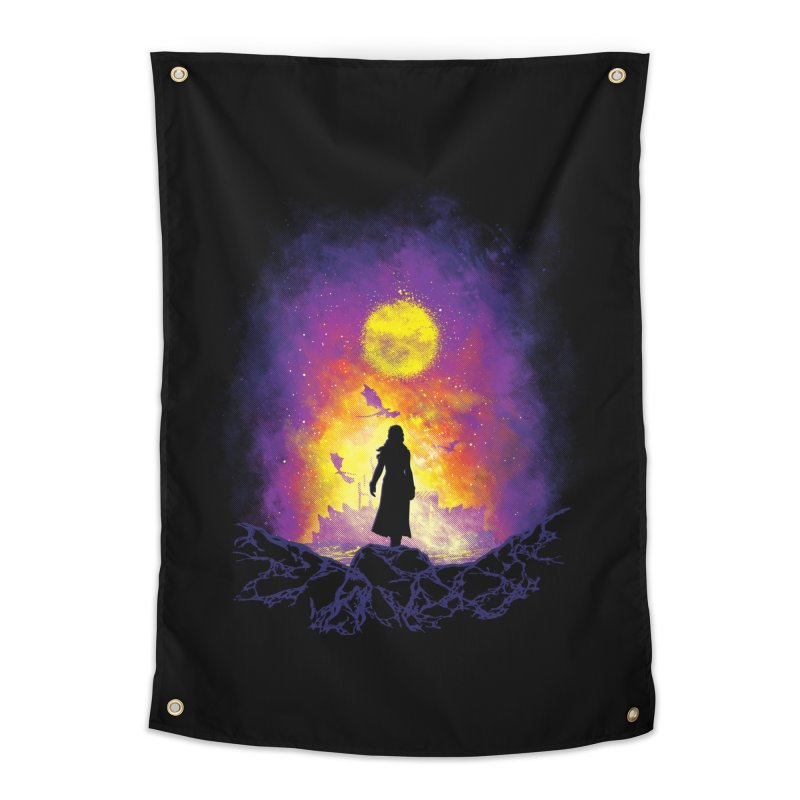 Born Of Fire Home Tapestry by Daletheskater