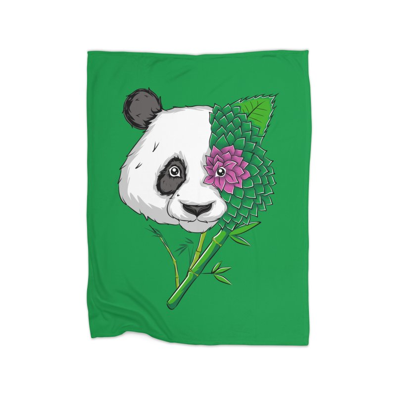 Oso panda -flower Home Blanket by damian's Artist Shop