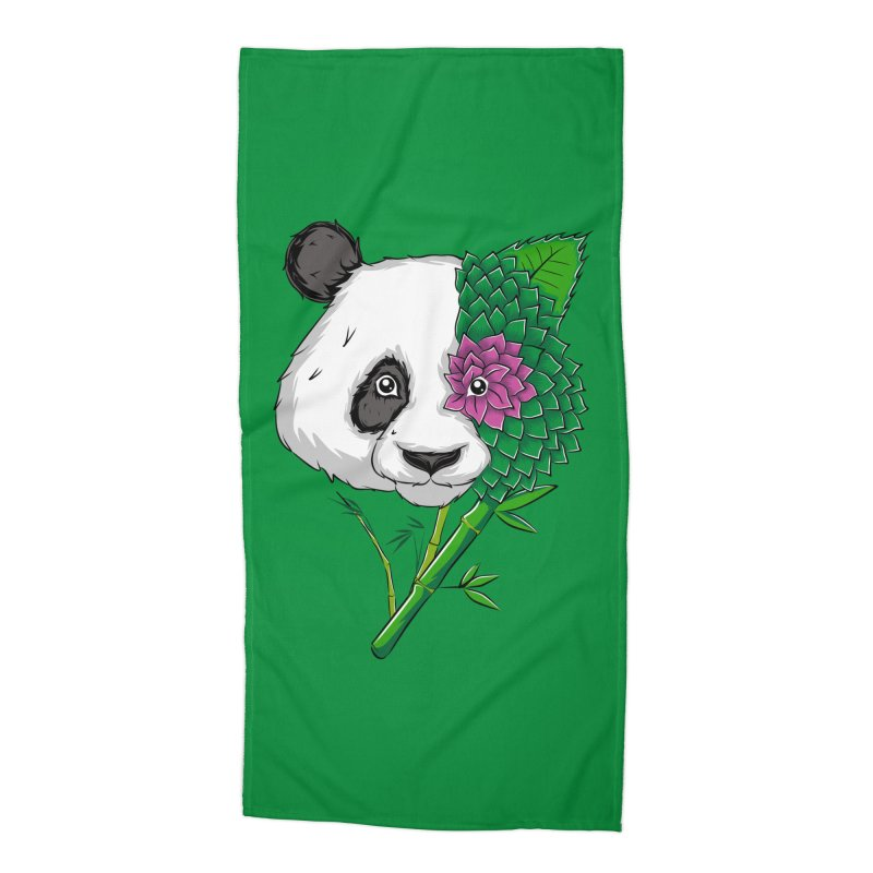Oso panda -flower Accessories Beach Towel by damian's Artist Shop