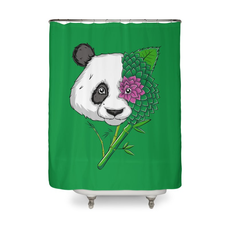 Oso panda -flower Home Shower Curtain by damian's Artist Shop