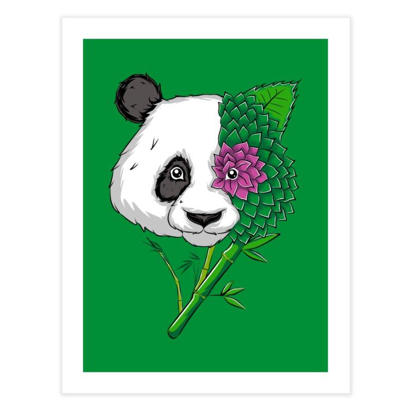 Oso panda -flower Home Fine Art Print by damian's Artist Shop