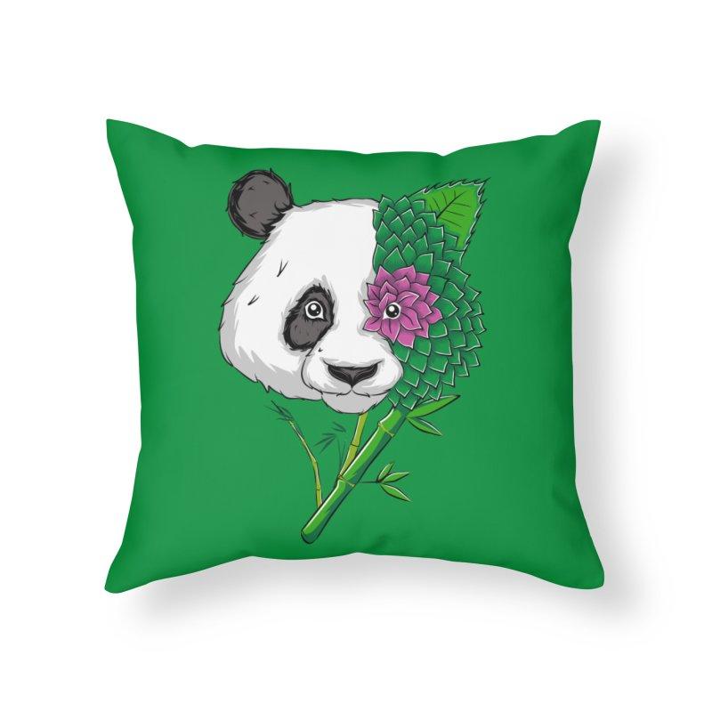 Oso panda -flower Home Throw Pillow by damian's Artist Shop
