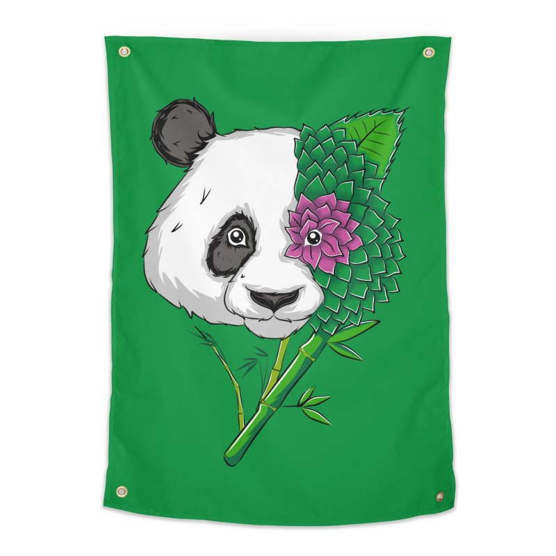 Oso panda -flower Home Tapestry by damian's Artist Shop