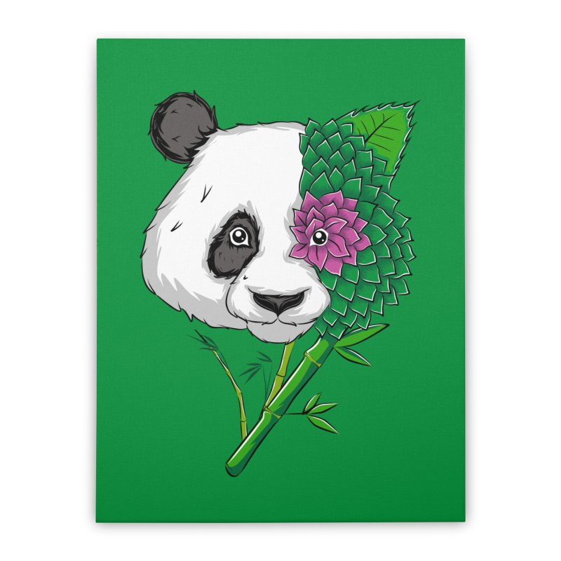 Oso panda -flower Home Stretched Canvas by damian's Artist Shop