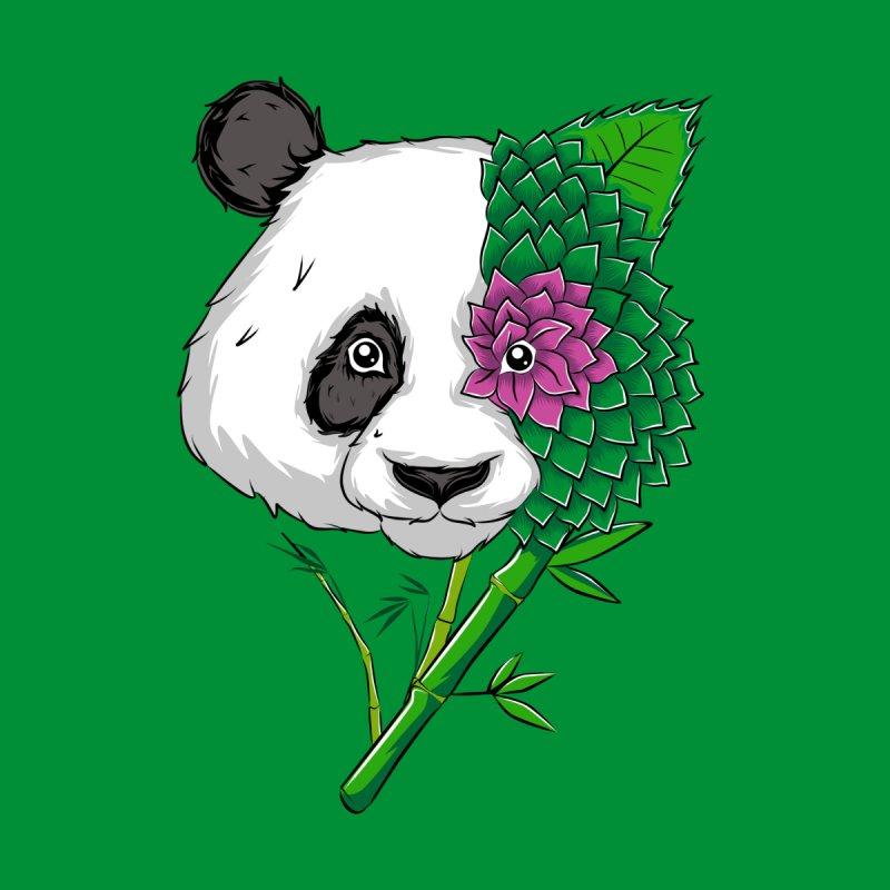 Oso panda -flower Men's T-Shirt by damian's Artist Shop