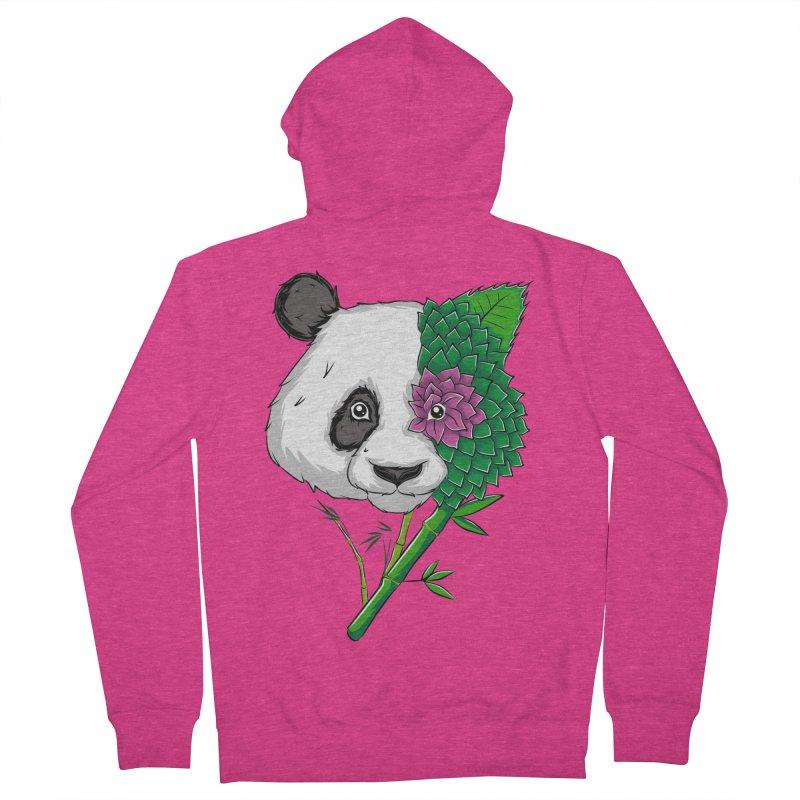 Oso panda -flower Women's Zip-Up Hoody by damian's Artist Shop