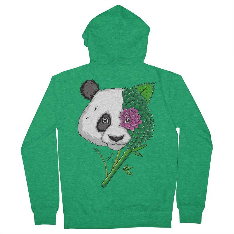Oso panda -flower Men's Zip-Up Hoody by damian's Artist Shop