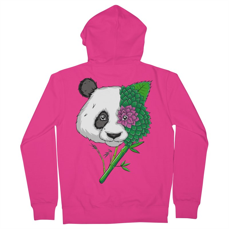 Oso panda -flower Men's Zip-Up Hoody by damian's Artist Shop