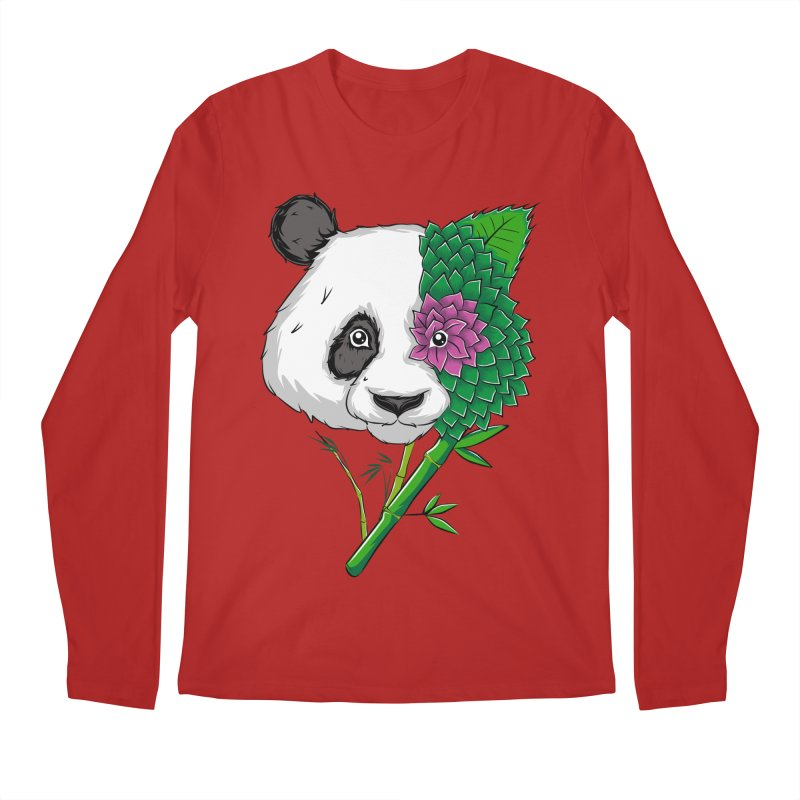 Oso panda -flower Men's Longsleeve T-Shirt by damian's Artist Shop