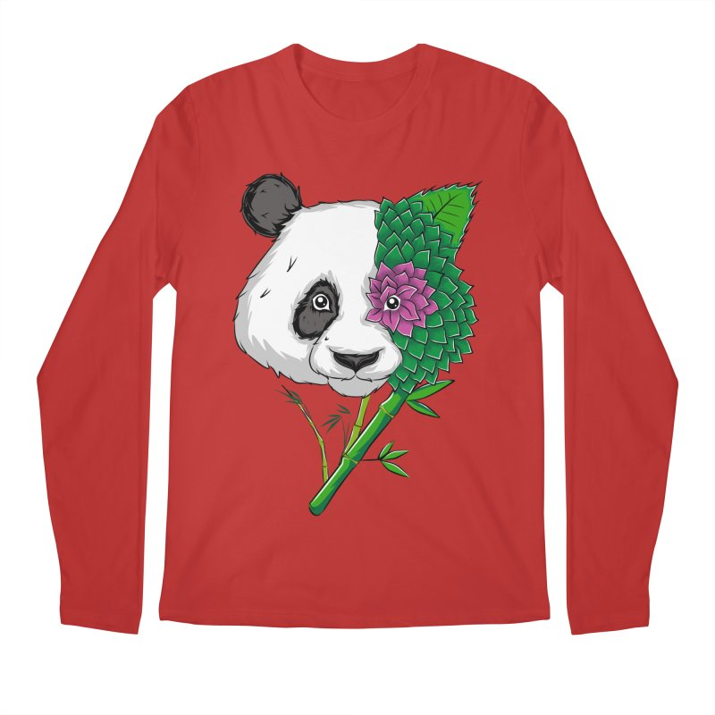 Oso panda -flower Men's Longsleeve T-Shirt by damian's Artist Shop