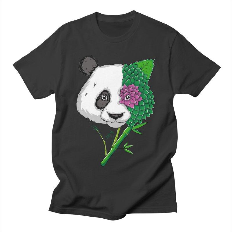 Oso panda -flower Men's T-shirt by damian's Artist Shop