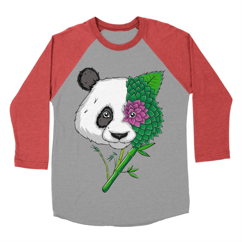 Oso panda -flower Women's Baseball Triblend T-Shirt by damian's Artist Shop